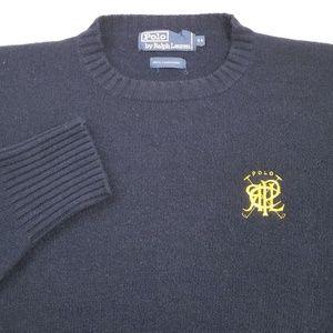 Polo Ralph Lauren Crest Cashmere Sweater Sz 44 (L)